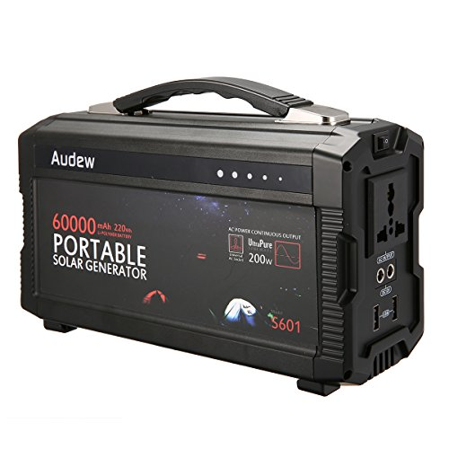 Audew-Portable-InverterPortable-Battery-Generator-Power-Source-Lithium-Battery-Power-Supply-with-12V-DC110V-ACUSB-Outputs-220Wh