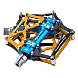 RockBros Mountain Bike Pedals Platform Cycling Sealed Bearing Alloy Flat Pedals 9/16'