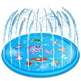 Jozo Outdoor Sprinkler Toys for Kids and Toddlers 68'', Outside Splash Pad Water Toys for 2 3 4 5 6 7 8 9 Year Old Boys and Girls