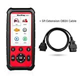MaxiDiag Autel MD808 Pro with 5ft Extension Cable All System OBDII Scanner(Advanced MaxiCheck Pro and MD802) Oil and Battery Reset Registration, Parking Brake Pad Relearn,SAS,SRS,ABS,EPB,DPF,BMS