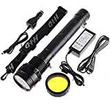 Sunworld HID Xenon 8700mAh Torch Flashlight SOS for Outdoor 85W 8500 Lumens 3 Mode - Black