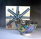 Arita - Imari | green tea bowl - tea utensils | Platinum Aya iron wire Hanae tea cup Fujii NishikiAya