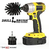 Drillbrush BBQ Grill Cleaning 2 Piece Mini Size Black Ultra Stiff Rotary Cleaning Drill Brushes Used for Lodge Fireplaces, Furnaces, Baked-on Food, and Industrial Applications