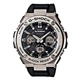 Casio Men's G Shock Stainless Steel Quartz Watch with Resin Strap, Black, 26.8 (Model: GST-S110-1ACR)