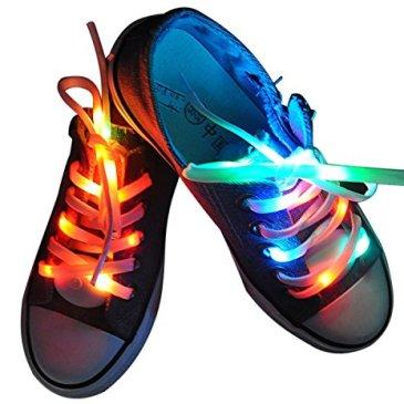 Lystaii LED Light Waterproof Shoelaces Shoestring Battery Po