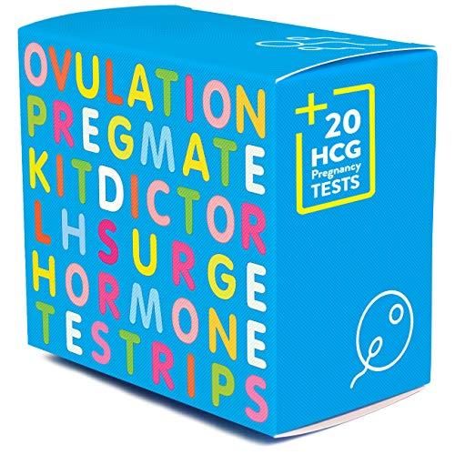 PREGMATE 50 Ovulation LH and 20 Pregnancy HCG Test Strips OPK LH Surge Predictor Kit Combo (50 LH + 20 HCG)