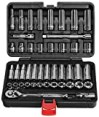 """EPAuto 45 Pieces 3/8"""" Drive Socket Set with 72-Tooth Pear Head Ratchet"""