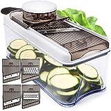 Adjustable Mandoline Slicer Vegetable Slicer - Potato Slicer Veggie slicer 5 Blades - Vegetable Cutter Slicers for Fruits and Vegetables - Grater & Julienne Slicer