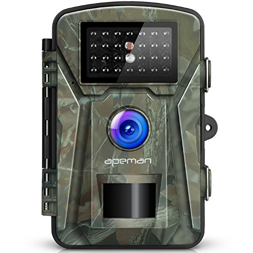 【Upgraded】APEMAN Trail Camera 12MP 1080P 2.4' LCD Game&Hunting Camera with 940nm Upgrading IR LEDs Night Vision up to 65ft/20m IP66 Spray Water Protected Design