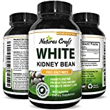 Natures Craft Pure White Kidney Bean Weight Loss Supplement - Fast Acting Diet Pills Natural Carb Blocker and Appetite Suppressant for Men & Women - Best Belly Fat Burner USA Made 60 Capsules