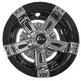 GTW (Set of Four) 8 inch Maverick Wheel Covers (Chrome & Black)
