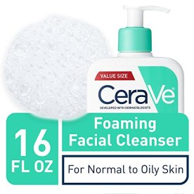 CeraVe Foaming Facial Cleanser | Makeup Remover and Daily Face Wash for Oily Skin