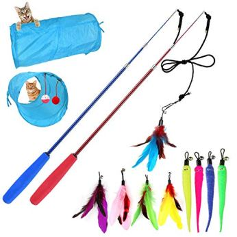 M-JJYPET-Retractable-Cat-Wand-Toys12-Packs-Interactive-Cat-Feather-Toy9-Assorted-Teaser-Refills-with-Bell-for-CatKitten