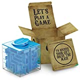 aGreatLife Money Maze Puzzle Box - Ideal Way to Store or Give Money, Cube Money Holder for Kids, Boy, Girls, Teens - Blue