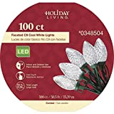 Holiday Living 100-Count 45-ft Constant Cool White C9 Led Plug-in Christmas String Lights ES62-887
