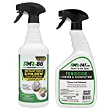 Complete Mold Killer & Remover DIY Bundle - Kill, Clean and Prevent Mold & Mildew(1-32oz RMR 86, 1-32oz RMR-141 RTU & 2 Trigger sprayers)