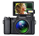 Digital Camera Seree Video Cameras 4X Digital Zoom Vlogging Camera Point and Shoot Digital Cameras 24MP Blogging Camera Selfie Camera with Flip Screen