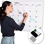 Large Dry Erase Laminated Wall Calendar 24' Inch by 36' Inch Size by Earlyadopters | [2019 New Clean Design] Premium Huge Monthly Planner for Office, Classroom, and Home Use