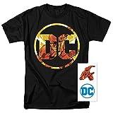 Flash DC Comics Logo T Shirt & Exclusive Stickers (Small)