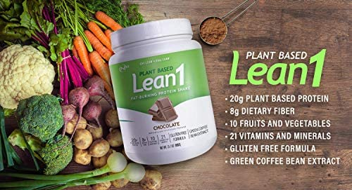 LEAN1 Nutrition 53 Meal Replacement Powder for Weight Loss, Fat Burner, Appetite Control, Plant Based Chocolate (31.7 Ounce) 3
