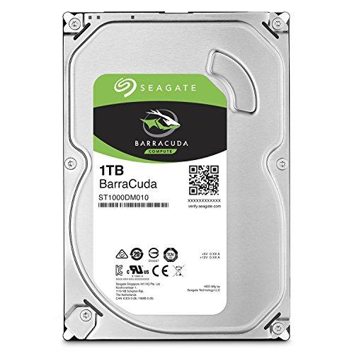 Seagate 1TB BarraCuda SATA 6Gb/s 32MB Cache 3.5-Inch Internal Hard Drive (ST1000DM010)