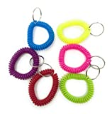 Sea View Treasures 36 Phone Cord Bracelet Keychains by Perfect for Tween/Teen Party Favors, Security Card Holders, Back-to-School Hall Passes