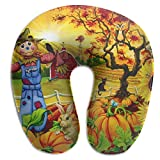 Laurel Neck Pillow Cartoon Scarecrow Travel U-Shaped Pillow Soft Memory Neck Support for Train Airplane Sleeping