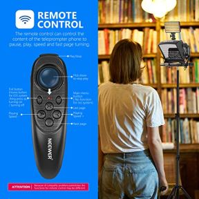 Neewer-X1-Mini-Teleprompter-Portable-Smartphone-Teleprompter-Artifact-Video-with-Remote-Control-Compatible-with-iPhone-Samsung-Android-and-Mirrorless-Camera-Recording