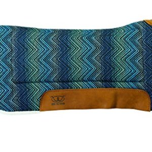 Weaver Leather 35-9307-H37 Contoured Saddle Pad – Merino Wool Fleece Lining,
