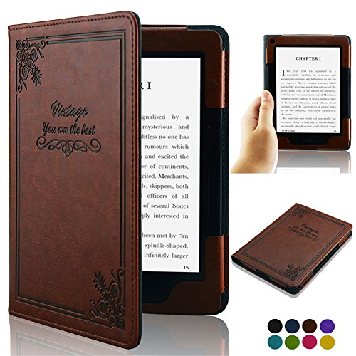 ACdream Kindle Voyage [Vintage] Case, Folio Premium PU Leather Book Style Case Cover for Kindle Voyage (2014 Version) with Auto Wake Sleep feature, Vintage Brown