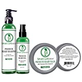 Spartans Den #1 Rated Beard Care Kit for Growth and Conditioning - 100% Natural with Tea Tree and Mint to Fight Dandruff and Itch, Promote Softness and Thicken Patchy Beards -'Revive'