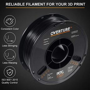 OVERTURE-PETG-Filament-175mm-with-3D-Build-Surface-200-x-200-mm-3D-Printer-Consumables-1kg-Spool-22lbs-Dimensional-Accuracy-005-mm-Fit-Most-FDM-Printer-6-Color-6-Pack