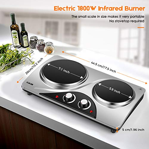 Cukor Double Burner Hot Plate