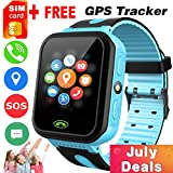 iGeeKid [SIM Card Included] Kids Smart Watch Phone GPS Tracker for Girls Boys Touch Screen Fitness Tracker with Camera Anti-Lost SOS Game Electronic Learning Toy for Prime Summer Travel Gifts