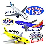 Daron Southwest, JetBlue & Spirit Airlines Die-cast Planes 'Matty's Toy Stop' Exclusive Gift Set Bundle - 3 Pack