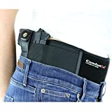 ComfortTac Ultimate Belly Band Holster 2.0 | New 2017 | Fits Glock 19 43 26 Smith and Wesson MP Shield Bodyguard Ruger LC9 Sig Sauer More | Carry IWB OWB Appendix (L (Belly: Up to 42'), Right)