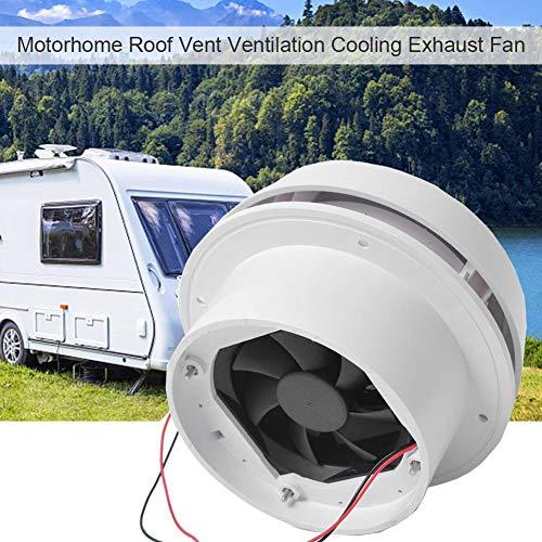 Exhaust Cooling Fan - MASO Car 12V RV Motorhome Roof Vent Ventilation Cooling Exhaust Fan Noiseless Energy-saving for Homes Trailer Travel Caravan (Fan Shell + Strong Fan)