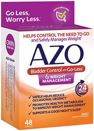 AZO Bladder Control with Go-Less® & Weight Management Dietary Supplement | Helps Reduce Occasional Urgency* | Promotes Healthy Metabolism* | Supports a Good Night's Sleep* | 48 Capsules 4