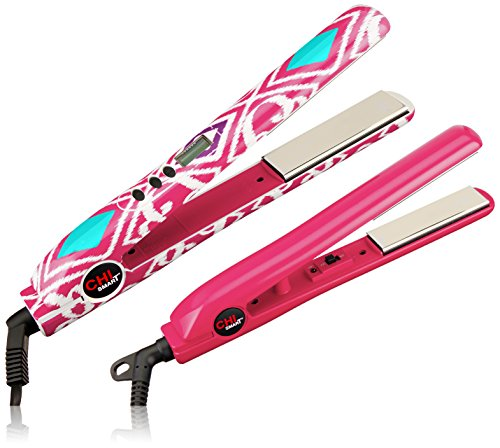 51hL9O0FSoL The CHI Smart Travel Iron delivers perfectly smooth, shiny, and silky results every time Combines superior glide and even heating with ceramic heating technology Curved edges help to create a multitude of styles (curls, waves, flips, volume)