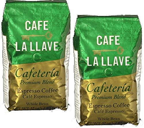 2 pack - Cafe La Llave Premium Blend Coffee Whole Bean. 2 lbs. bags