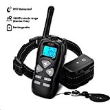Petoffers Dog Training Collar with Remote - Rechargeable Waterproof Dog Shock Collar w/Beep Vibration Shock Training Collar for Small Medium Large Dogs, Up to 1800Ft Remote Range, 0~99 Shock Levels