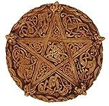 Dryad Design Celtic Knotwork Pentacle Plaque Wood Finish