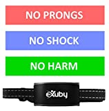 eXuby Friendliest Bark Collar for Small Dogs - No Prongs, No Shock & No Harm - Only Sound & Vibration - Stay in Control with 7 Levels of Intensity - Rechargeable - Most Humane No Bark Collar
