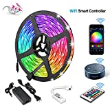 Litake WiFi LED Strip Lights, Wireless LED Light Strips 16.4ft/5M, SMD 5050 Smart APP Phone Controlled LED RGB Tape Lights,Waterproof Remote Led Rope Lights Working with Alexa Android/iOS System