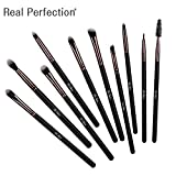 Eyeshadow Makeup Brushes,10Pcs Makeup Brushes Set of Professional Eyebrow Brush, Concealer Brush,Eyeliner Brush