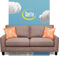 Serta Astoria Upholstered Sofas Flare Arm Fabric Living Room Couch with Spring and Foam-Filled Seat Cushions, Ships in…