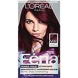 L'Oréal Paris Feria Multi-Faceted Shimmering Permanent Hair Color, V38 Violet Noir (Intense Deep Violet), 1 kit Hair Dye
