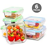 Elacra Glass Meal Prep Containers with Locking Lids...