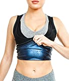 Sweat Shaper Women's Premium Workout Tank Top Slimming Polymer Sauna Vest, Small/Medium