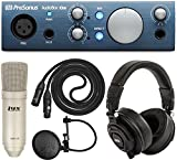 PreSonus AudioBox iOne Audio Interface For Mac, PC and iOS Devices with Studio One 3 DAW Software and LyxPro Recording Bundle